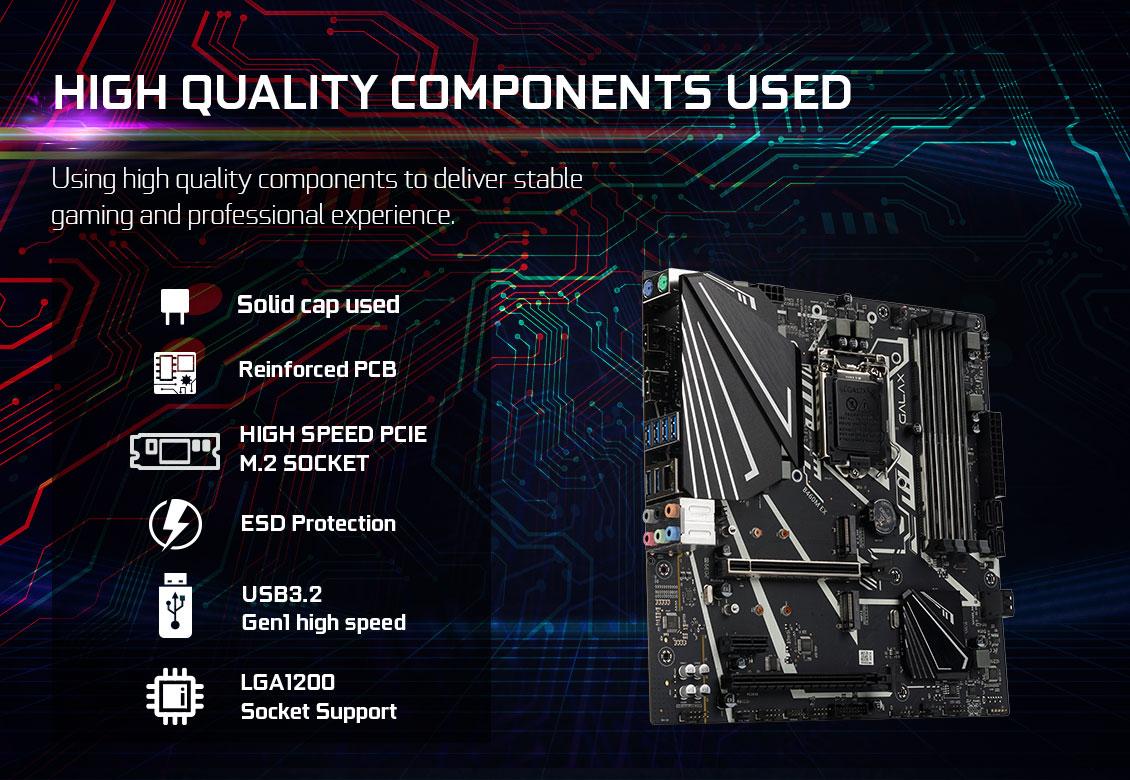 Mainboard GALAX B460M EX (Intel B460, Socket 1151, m-ATX, 4 khe RAM DDR4)