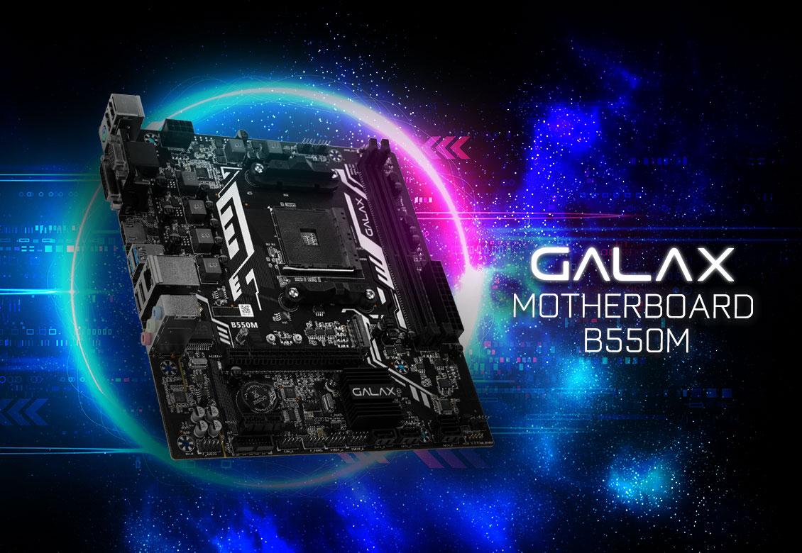 Mainboard GALAX B550M (AMD B550, Socket AM4, m-ATX, 2 khe RAM DDR4)