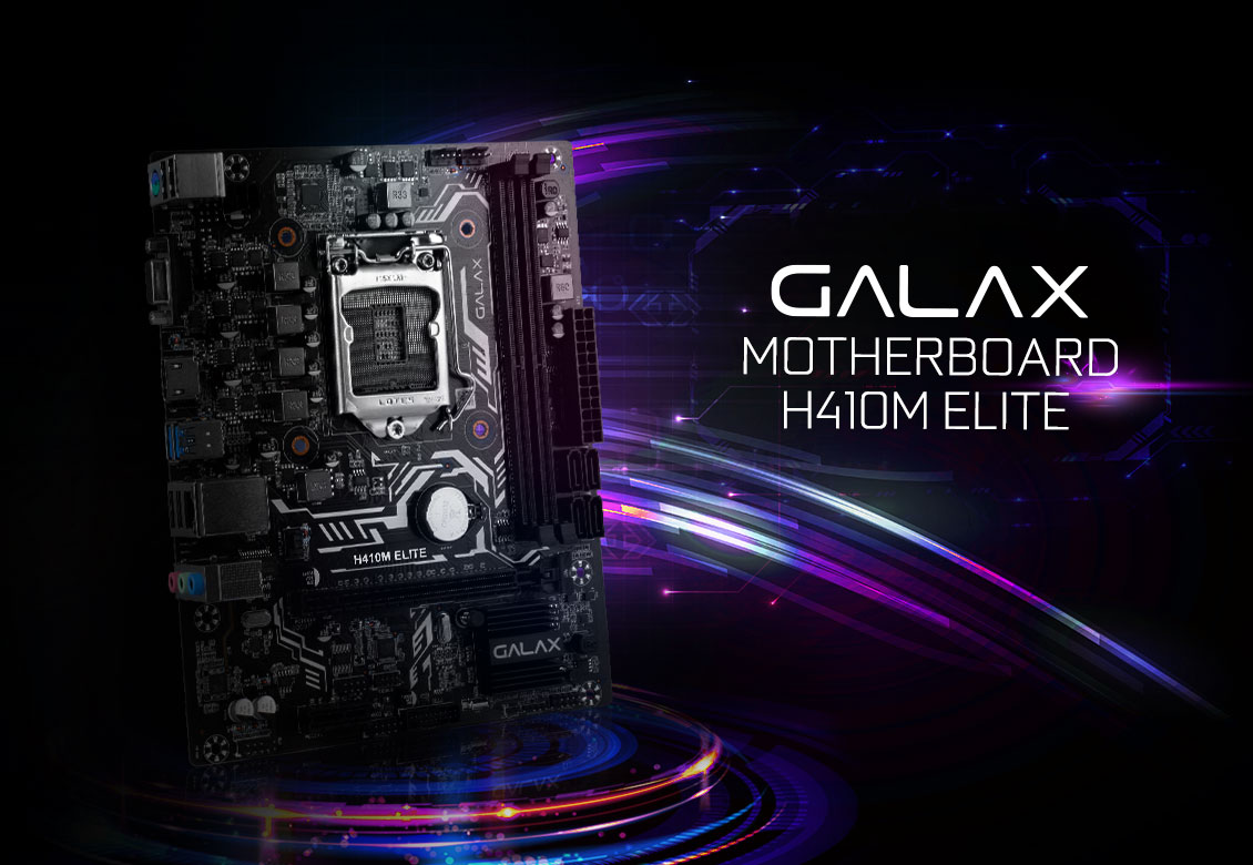 Mainboard GALAX H410M ELITE (Intel H410, Socket 1151, m-ATX, 2 khe RAM DDR4)