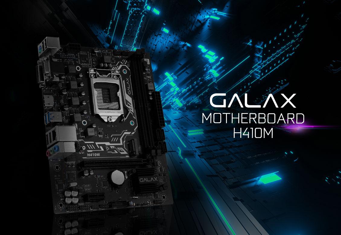 Mainboard GALAX H410M (Intel H410, Socket 1151, m-ATX, 2 khe RAM DDR4)